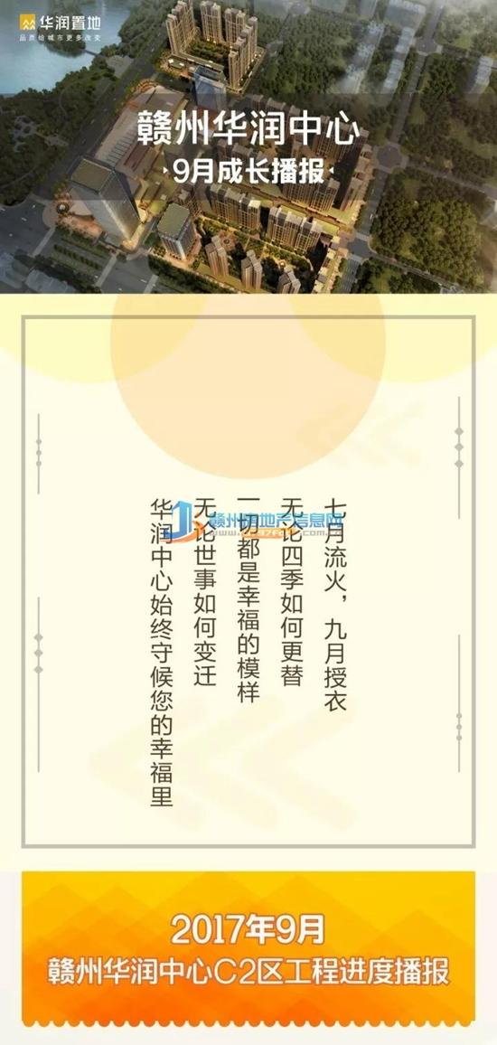 2017年9月赣州华润中心C2区工程进度播报