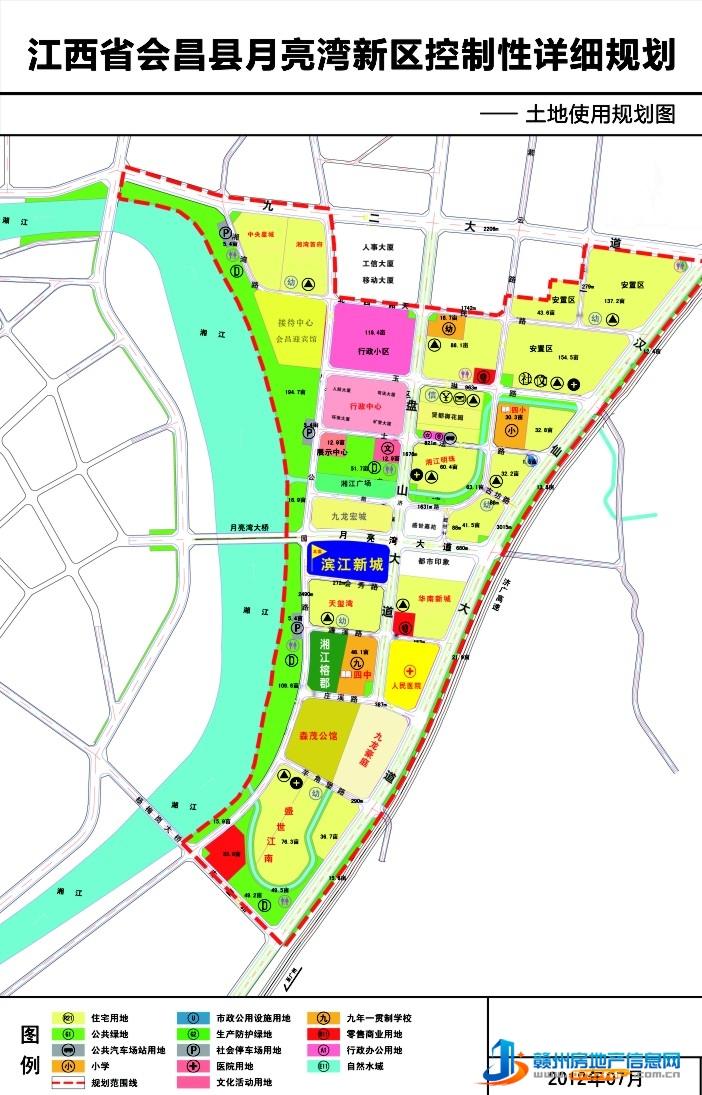滨江新城区位图