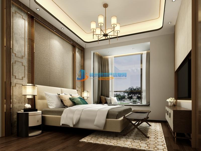110㎡户型现代中式--卧室