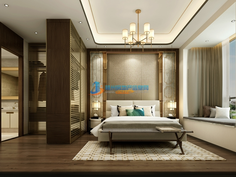 110㎡户型现代--中式卧室